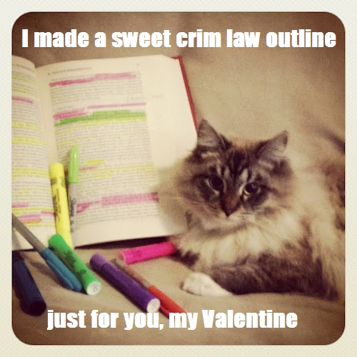 lol, lawschool has warped his sense of romance